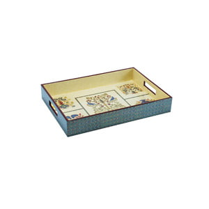 Top Lacqure Rectangle Tray with Handle-4083