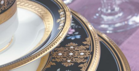 EVENING MAJESTY - 12 Pcs TEA CUP & SAUCER-4513