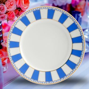 CARNIVAL ROUND PLATE BLUE - 2 pcs-4437
