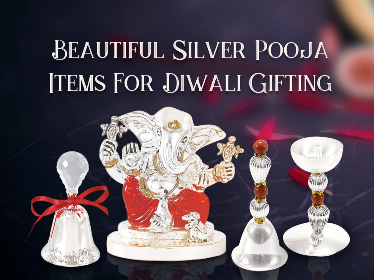 Beautiful Silver Pooja Items For Diwali Gifts